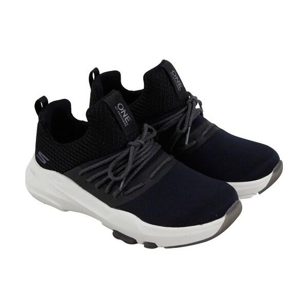 943a169e7ec8 Skechers One Element Ultra Womens Blue Black Textile Athletic Training Shoes