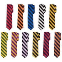 "Jacob Alexander Stripe Woven Men's Slim 2.75"" College Striped Tie - One size"