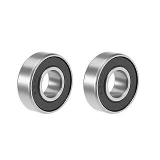 "R6-2RS Deep Groove Ball Bearing 3/8""x7/8""x9/32"" Sealed GCr15 Bearings 2pcs - 2 Pack - R6-2RS (3/8""x7/8""x9/32"")"