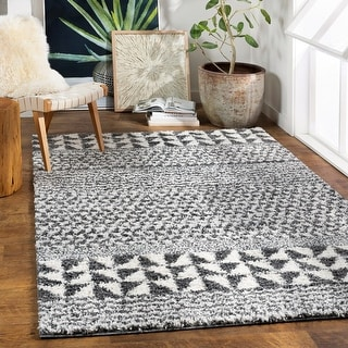 Link to Marlie Nordic Stripe Plush Area Rug Similar Items in Rugs