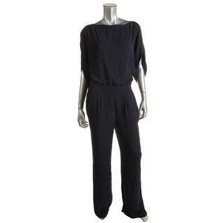 Diane Von Furstenberg Womens Chiffon Solid Jumpsuit - 12