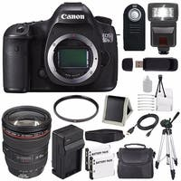 Canon EOS 5DS R DSLR Camera (International Model) 0582C002 + EF 24-105mm f/4L IS USM Lens + LP-E6 Battery Bundle