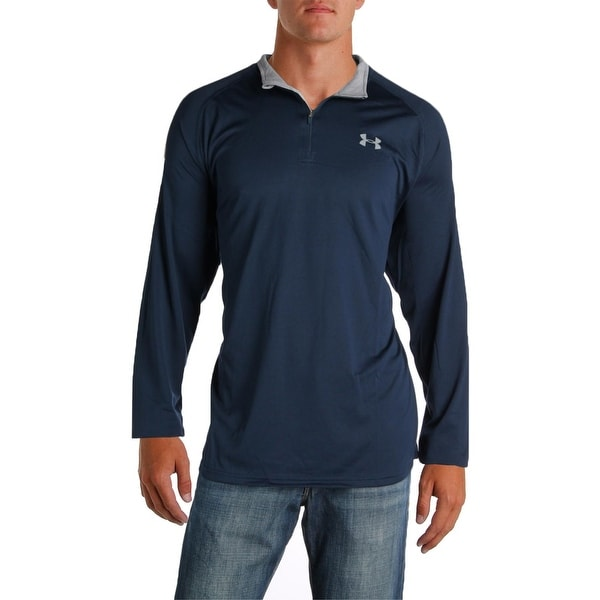 Under Armour Mens 1/4 Zip Pullover Heat Gear Loose Fit