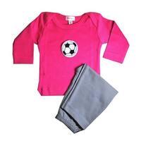 Loralin Design GFS12 Soccer Outfit - Fuchsia  12-18 Months