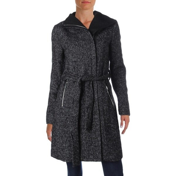 Shop T Tahari Womens Eva Trench Coat Winter Wool Free