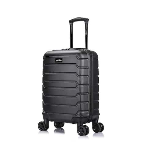 InUSA Trend lightweight hardside spinner 20 inch carry-on Black