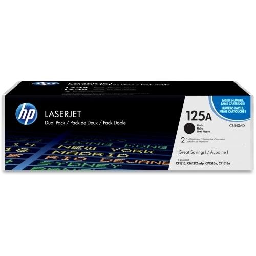 HP 125A Black Original LaserJet Toner Dual Cartridge (CB540AD)(Single Pack)