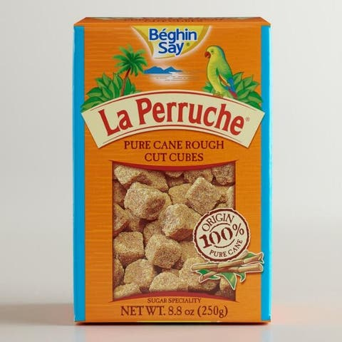 La Perruche Sugar Cubes - Brown - Case of 16 - 8.8 oz.