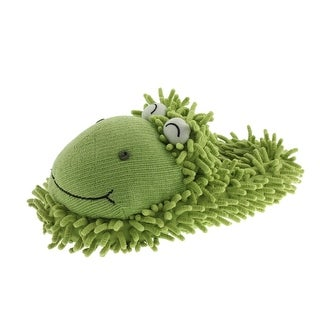 Aroma Home Womens Novelty Slippers Fuzzy Frog - 9.5 medium (b,m)
