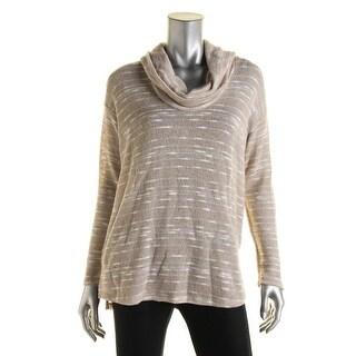 Splendid Womens Marled Cowl Neck Pullover Sweater