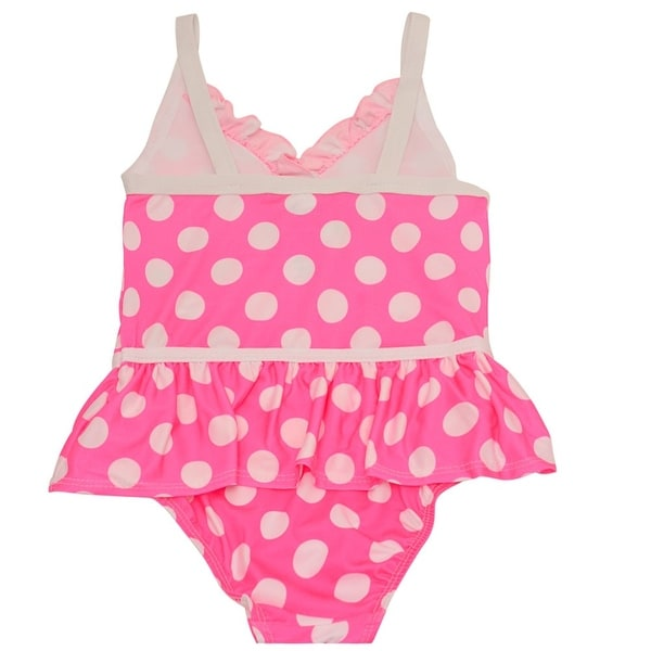 293def2835 Shop Penelope Mack Little Girls Fuchsia Polka Dot Ruffle One Piece Swimsuit  - Free Shipping On Orders Over $45 - Overstock - 19294043