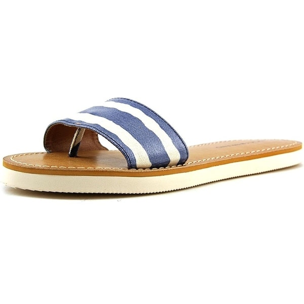 Lucky Brand Womens LK-DELDONNA Leather Open Toe Casual Slide Sandals