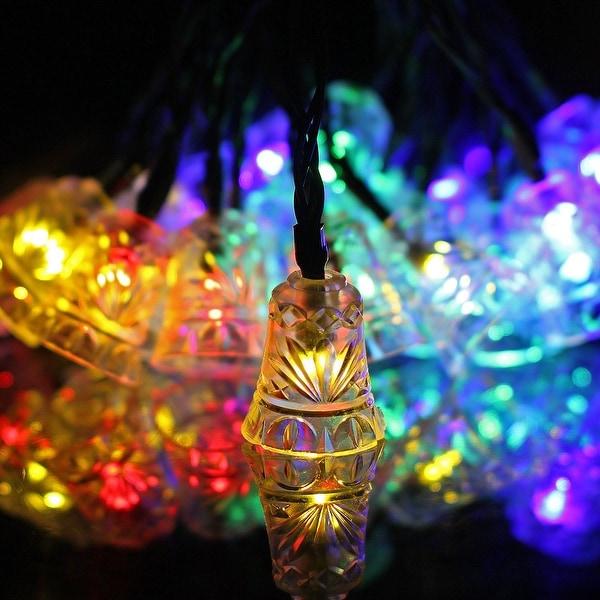 Reject Shop Christmas Solar Lights: Shop 16ft Outdoor Strings Of Solar Lights 20 Bell Shaped