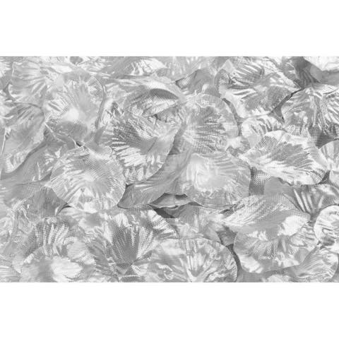 "1 Bag, 2"" X 2"" Silk Flower Rose Petals (500 Pcs) - Silver"