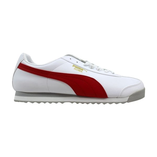 Shop Puma Roma Basic White High Risk Red 353572 38 Men s - Free ... 3fd6fab5d