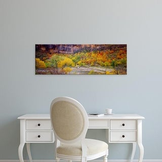 Easy Art Prints Panoramic Images's 'Big Bend in fall, Zion National Park, Utah, USA' Premium Canvas Art