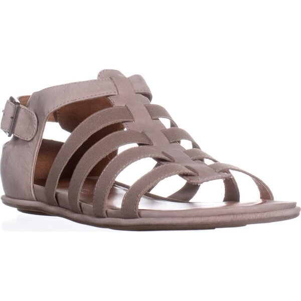 gentle souls Olive Gladiator Sandals, Mushroom - 10 us / 41 eu