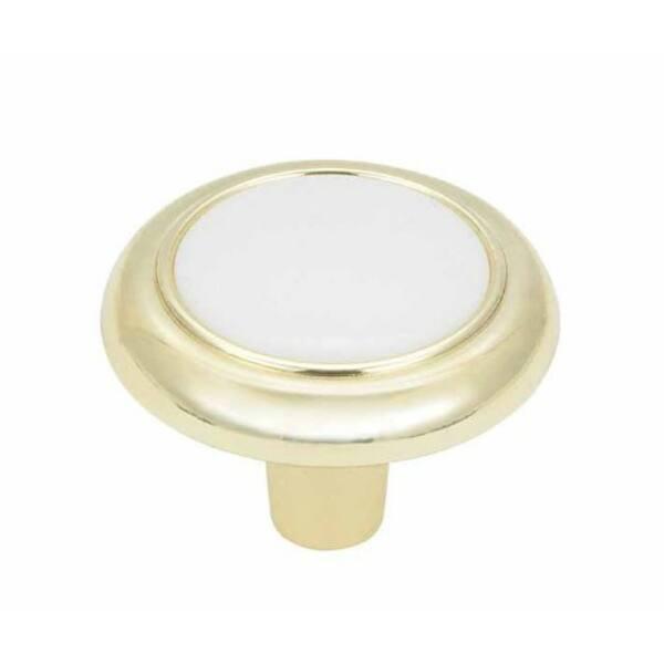 """Allison? Vintage Polished Brass Drawer Cabinet Pull Knobs 1-1//4/"""" Amerock"""