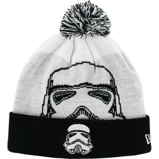 Star Wars Stormtrooper Woven Biggie Knit Hat with Pom