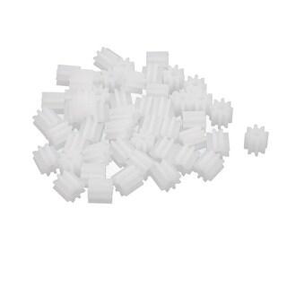 50PCS 8 Teeth 1.5mm Hole Diameter Plastic Gear Wheel for RC Toy Car
