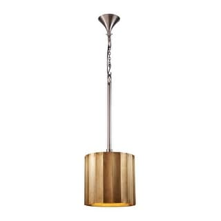 Dimond Home 985-027 Small Brass Clad 1 Light Ribbed Pendant