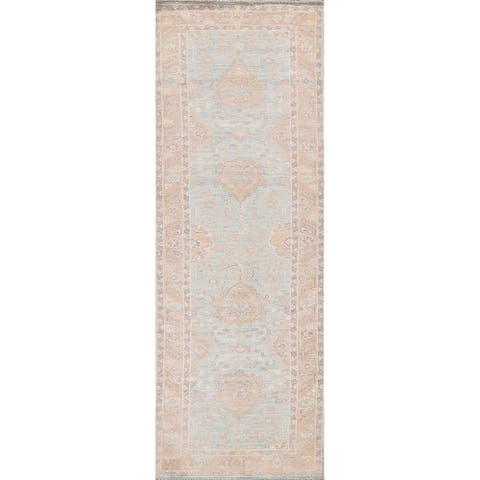 """Authentic Oushak Turkish Staircase Runner Rug Hand-knotted Wool Carpet - 2'10"""" x 10'0"""""""