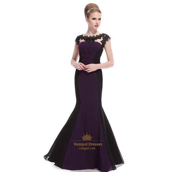 25a58f7c4bcd8 Shop Dark Purple And Black Prom Dresses,Dark Purple Mermaid Prom ...
