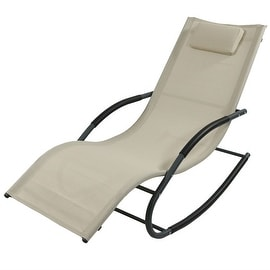 Sunnydaze Rocking Wave Lounger w/ Pillow