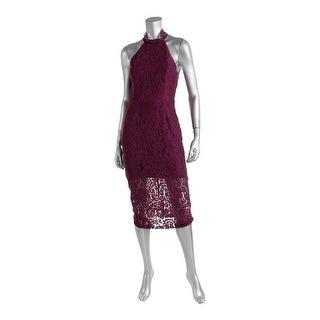 Keepsake Womens Lace Halter Cocktail Dress