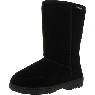 Bearpaw Womens Meadow 605W Suede Boots - Black