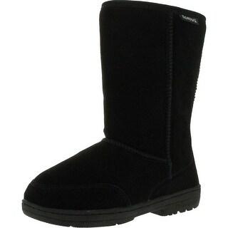 Bearpaw Womens Meadow 605W Suede Boots - Black
