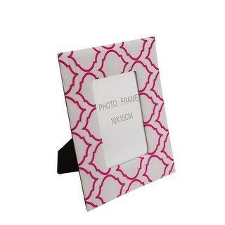 """City Chic Padded Pink and White Geometric Square Pattern Picture Photo Frame 5.5"""" x 3.5"""""""