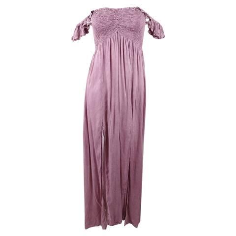 Raviya Women's Off-The-Shoulder Ruffled Maxi Cover-Up Dress