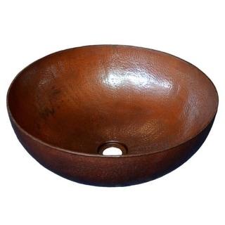 "Native Trails CPS63 Maestro Round 16"" Copper Vessel Bathroom Sink"