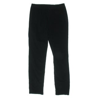 Karen Scott Womens Petites Straight Leg Pants Corduroy Textured