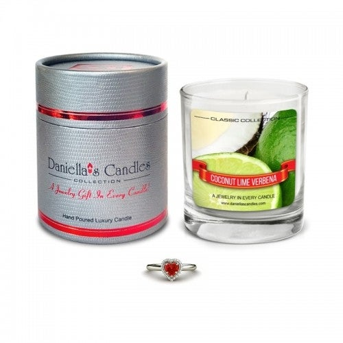 Daniella's Candles Coconut Lime Verbena Jewelry Candle - Earrings
