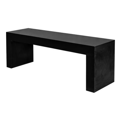Aurelle Home Modern Black Concrete Bench