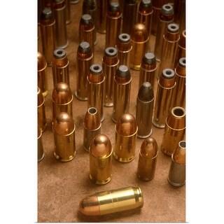 """Variety of handgun bullets"" Poster Print"