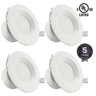 """4""""7W LED Recessed Downlight Kit with J-Box, Wet Location"""
