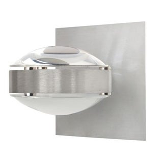 Besa Lighting OPTOS1W-CLFR Optos 1 Light Halogen Wall Sconce with Clear / Frost Glass Shade