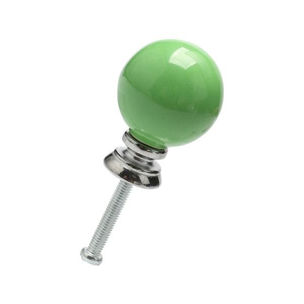Ceramic Knobs Knob Drawer Round Shaped Pull Handle Furniture Door Cabinet Cupboard Wardrobe Dresser Decoration Green 1pcs
