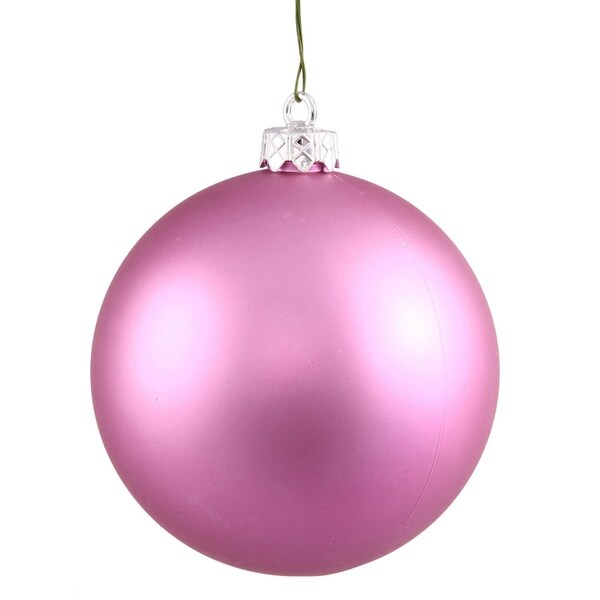 "Matte Orchid Pink UV Resistant Commercial Shatterproof Christmas Ball Ornament 4"" (100mm)"