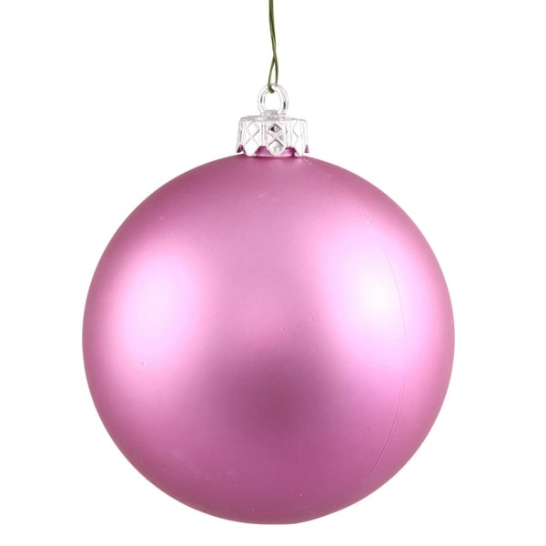 "Matte Orchid Pink UV Resistant Commercial Shatterproof Christmas Ball Ornament 6"" (150mm)"