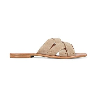 FRYE Womens Carla Criss Cross Open Toe Casual Slide Sandals