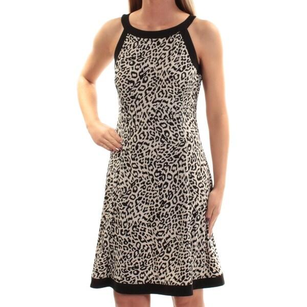 American Designer Clothes Shops | Shop American Living 79 Womens New 1499 Black Animal Print Fit