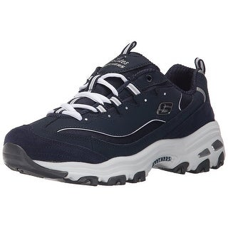 Skechers Sport Women's D'lites Me Time Fashion Sneaker, Me Time Navy/White