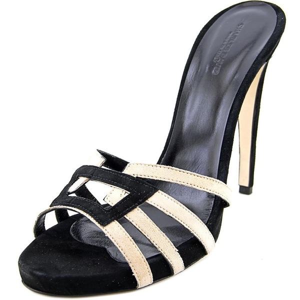 Charles David Mari Women Open Toe Suede Black Sandals