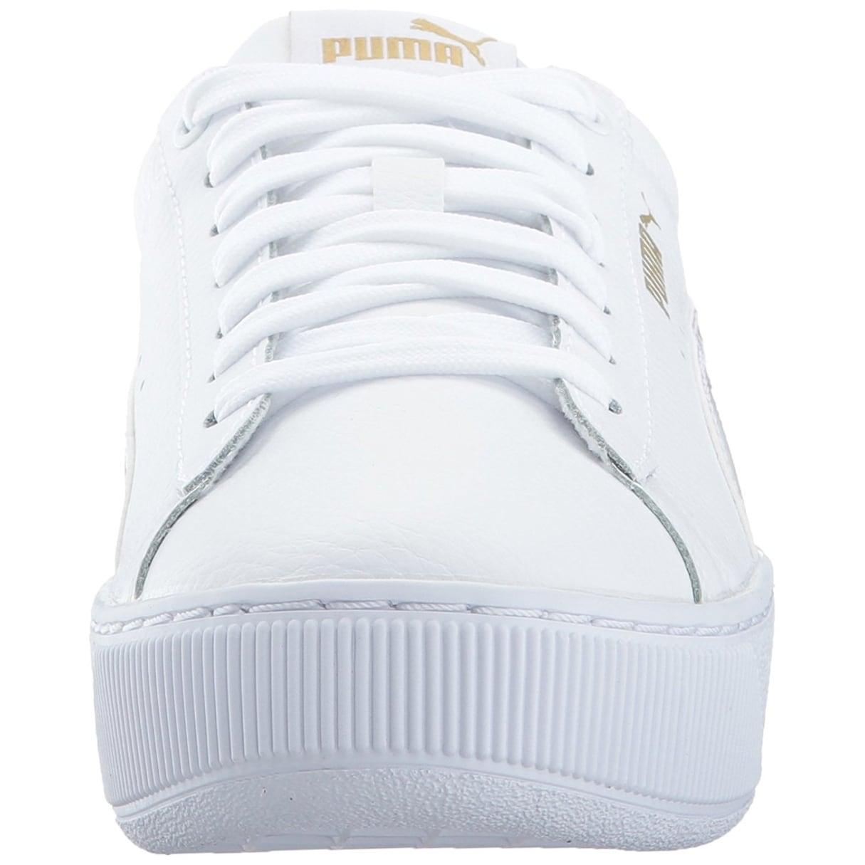puma vikky white platform