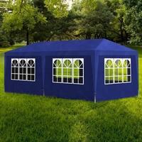vidaXL 10' x 20' Blue Party Tent with 6 Walls