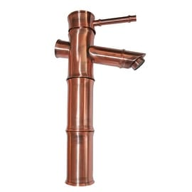 Bathroom Faucet Antique Copper Bamboo Single Hole 1 Handle